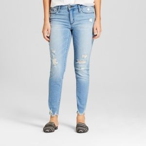 womens high rise distressed skinny jeans